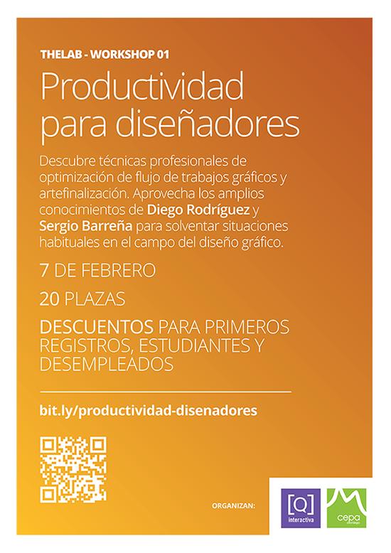Workshop Productividad para Diseñadores. Formación, cursos, talleres, workshops, asturias