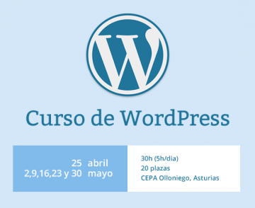 Curso de WordPress, con CEPA Olloniego, Q-interactiva y Aurea
