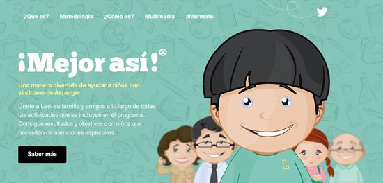 Diseño y desarrollo de la web, presencia en twitter y e-mail marketing para Mejor Así.